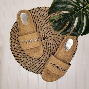 Givenchy cork slides slip on sandals 40